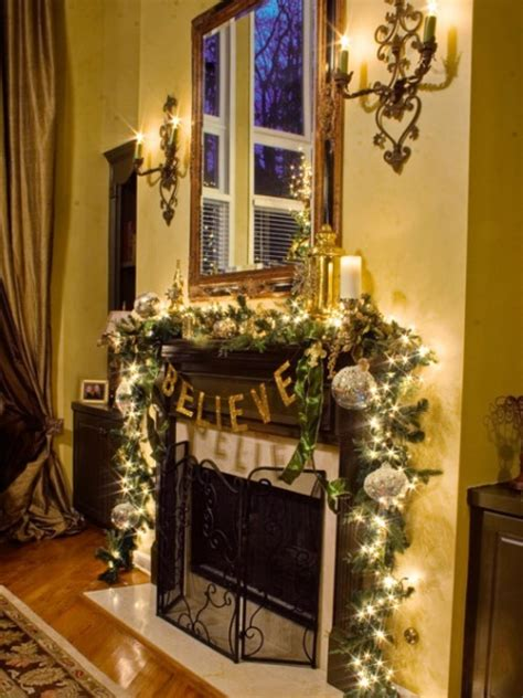 Christmas mantels interior design styles and color schemes for home