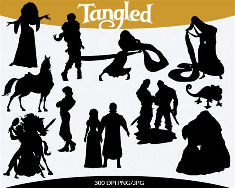 tangled silhouette clipart clipart suggest
