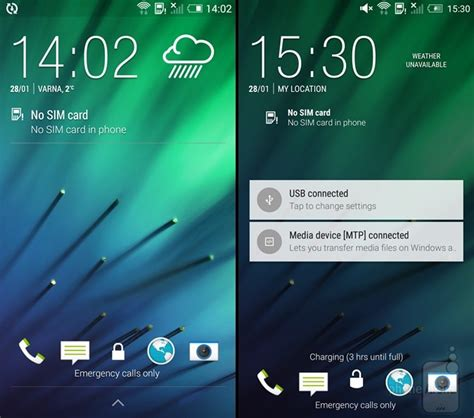 htc lock screen apk htc one m8 with lollipop vs one m8 with kitkat ui comparison