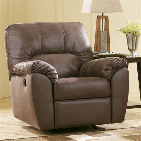 ashley recliners ashley walnut rocker recliner ashley furniture
