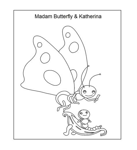 nick jr oswald coloring pages madame butterfly and katerina coloring printable page