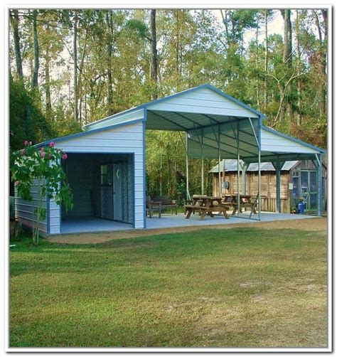 Metal Carport With Storage Shed by 1000 Ideas About Shed Storage Solutions On