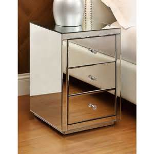 Mirrored Bedside Table Vegas Mirrored Bedside Table 3 Drawer Mirror Bedroom