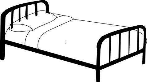 drawing of a bed hospital bed clip art at clker com vector clip art online royalty free public domain