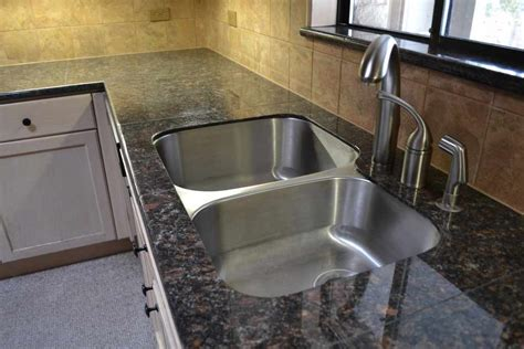 Sink Cost Kitchen Granite Tile Kitchen Countertop Brown