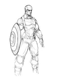 Captain America Parachut X1292 Iphone 7 David Finch Cap Sketch Comic 02 176 David Finch