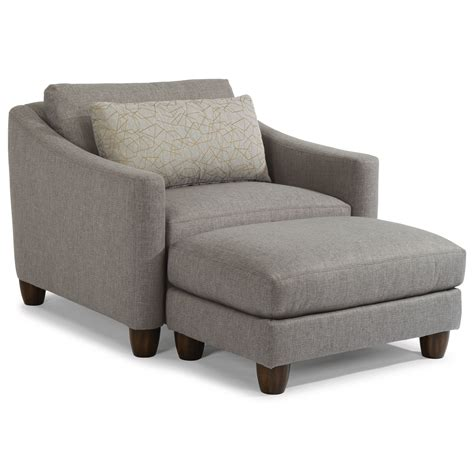 chair and a half and ottoman set flexsteel sasha 7940 contemporary chair a half and