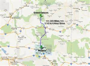 arizona map to grand