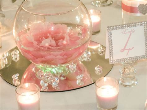 Diy valentines centerpiece : simple and quick Glass bowls