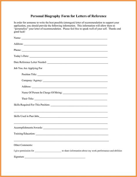 free bio template fill in blank professional biography template word
