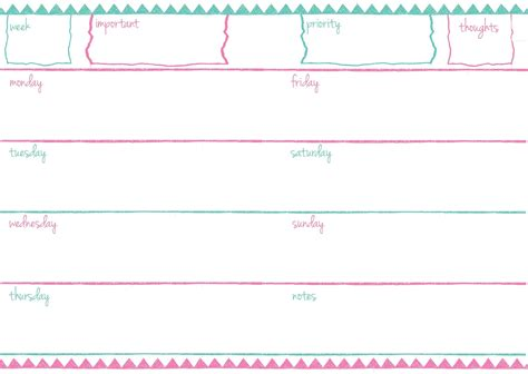 printable planner a6 pb and j studio free printable planner inserts doodle