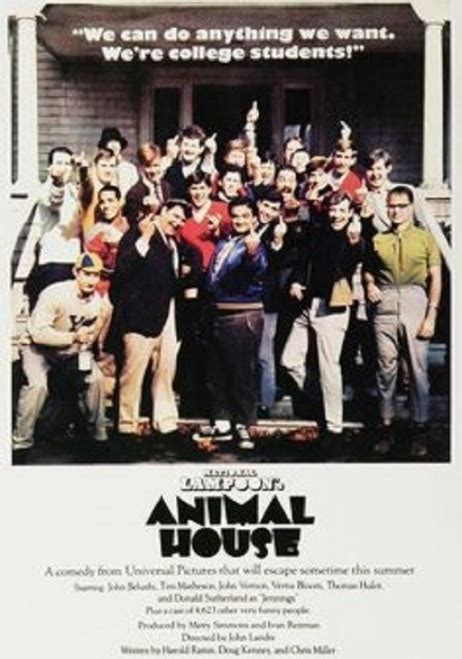 animal house poster animal house cast the finger poster poster print item varxpe160392 posterazzi