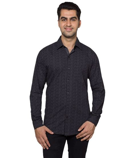 black gray casual shirt hancock black gray printed casual shirt buy hancock