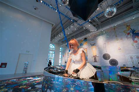 designboom jobs studio job installs a roller disco inside the faena art center