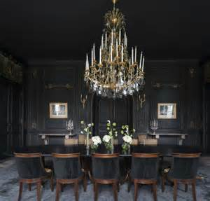 Black Chandelier Dining Room How To Decorate Dramatic Dining Rooms With Smart Dining Chairs