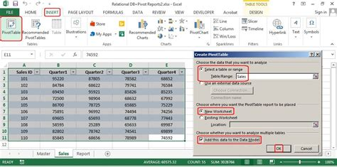 Access Pivot Table by How To Create Relational Databases In Excel 2013 Pcworld