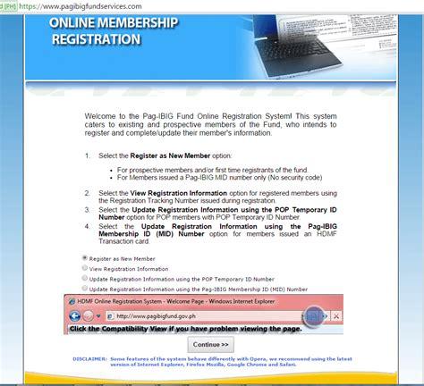 pag ibig online registration how to register pag ibig using online registration form