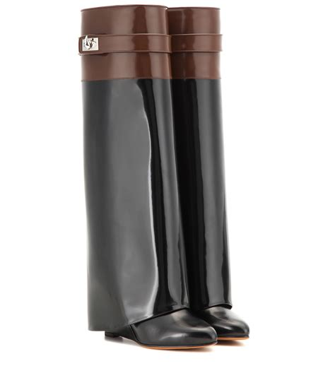New Givenchy High Heel 3 In 1 1698 3 lyst givenchy pant patent leather wedge boots in black