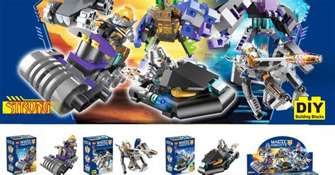 Lele 32011 1 4 Set Nexo Knights downtheblocks doll d133 nexo knights with mini mechs and