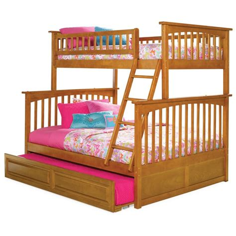 Bunk Beds With Pull Out Bed Underneath Columbia Bunk Bed And Trundle Dcg Stores