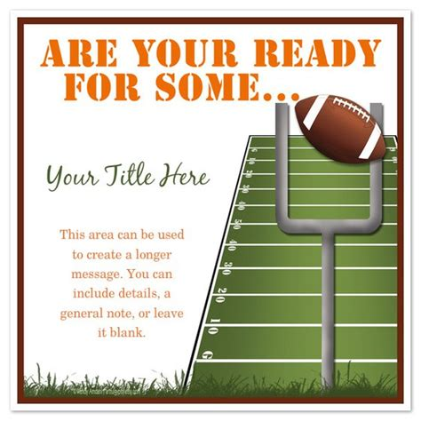 Football Tailgate Invitation Templates Free Tailgate Flyer Template