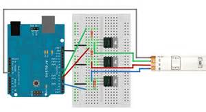 led strip lights arduino mapping r g b values to wavelengths nm for an rgb led