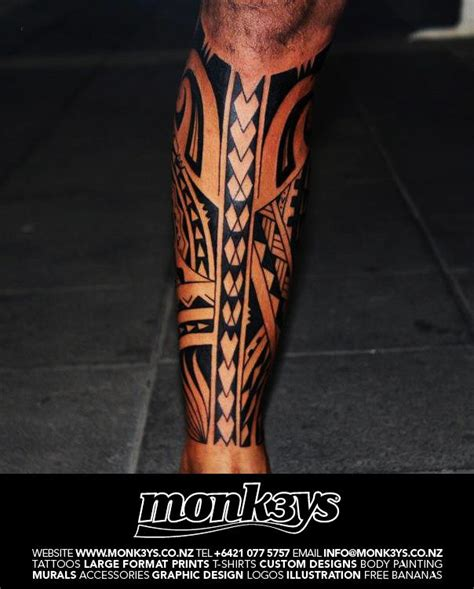 tribal tattoos calf muscle polynesian tribal calf 2 by monk3ys tattoos on deviantart