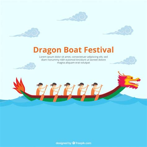 dragon boat icon dragon boat festival background vector free download