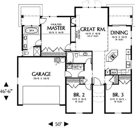how many square feet is a 3 car garage house 31822 blueprint details floor plans