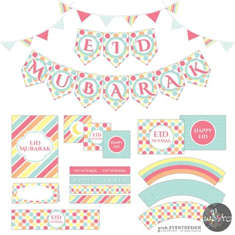 free printable islamic greeting cards 50 off eid mubarak party printables pdf instant download