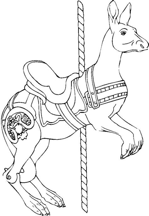 free coloring pages of carousel horses 54 best color me carousel images on carousel