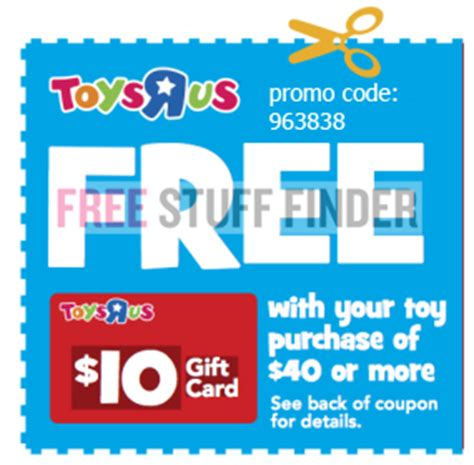 Toys R Us Gift Card Online - free 10 toys r us gift card online only