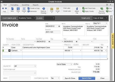 sle invoice editing quickbooks invoice template 100 images bill estimate