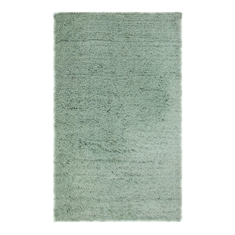 chesapeake rugs chesapeake merchandising microfiber shag aqua 5 ft x 7 ft area rug 79206 the home depot
