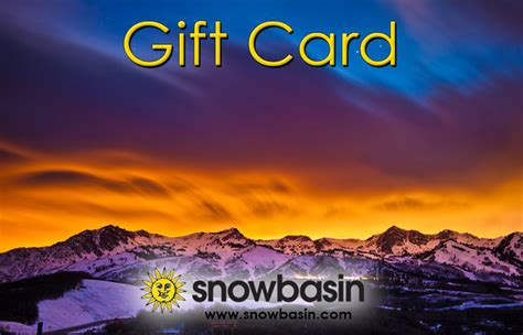 Buy E Gift Cards Online Instantly - snowbasin resort online store home