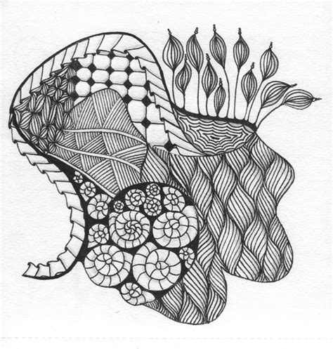zentangle pattern groovy cut n it up and sewing it back together february 2012