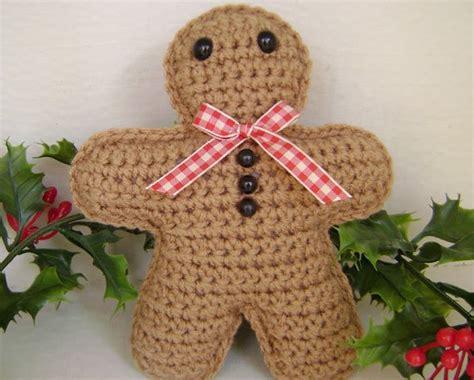 crochet pattern gingerbread man crochet gingerbread man christmas holiday decoration