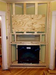 Built In Electric Fireplace J Remodeling Llc Build Out For A Built In Electric Fireplace In Arlington Ma