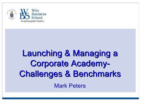 Wits Mba Application by Peters Wits Business School
