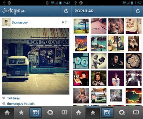 instagram app for android free update my androidinstagram upgraded for nexus 7