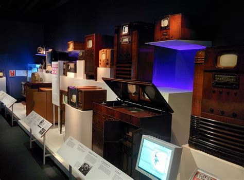 the new image file gallery of historical television sets in the museum