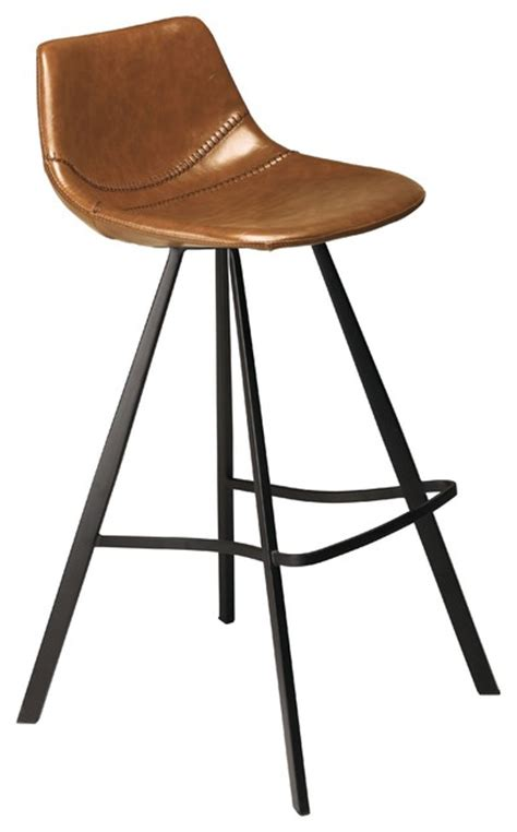 Rava Bar Stool pitch upholstered bar stool with metal legs contemporary