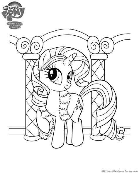 my litte pony rarity colouring page