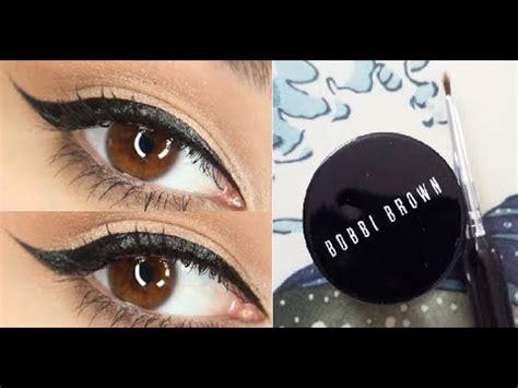 gel eyeliner tutorial youtube quick and easy winged eyeliner tutorial youtube