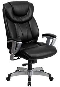 Hercules Office Chair by 1534 Hercules Series Big Black Leather Arm Office
