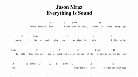 tutorial guitar everything i do jason mraz everything is sound guitar chords youtube