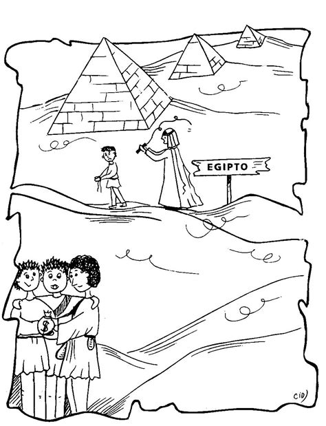 coloring pages for joseph in egypt joseph the patriarch