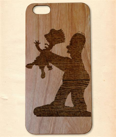 Handmade Wooden Iphone Cases - the simpsons handmade wooden cover for iphone 6 6s