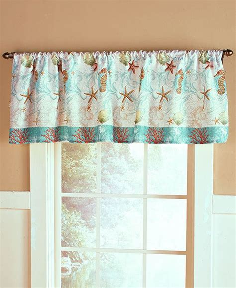coastal window curtains coastal window valance sea shell rustic decor ocean beach
