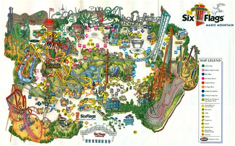 map of six flags six flags magic mountain 2006 park map